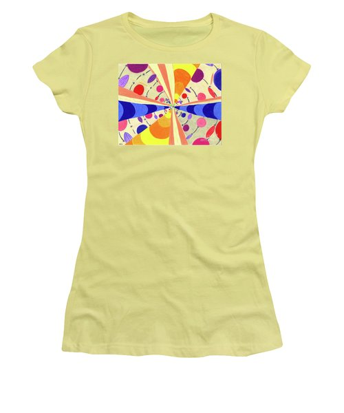 Women's T-Shirt (Junior Cut) featuring the drawing Universals by Kim Sy Ok