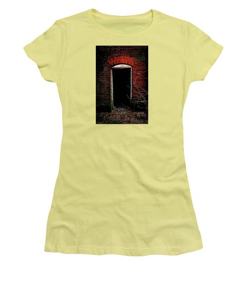 Women's T-Shirt (Junior Cut) featuring the photograph Unknowing by Jessica Brawley