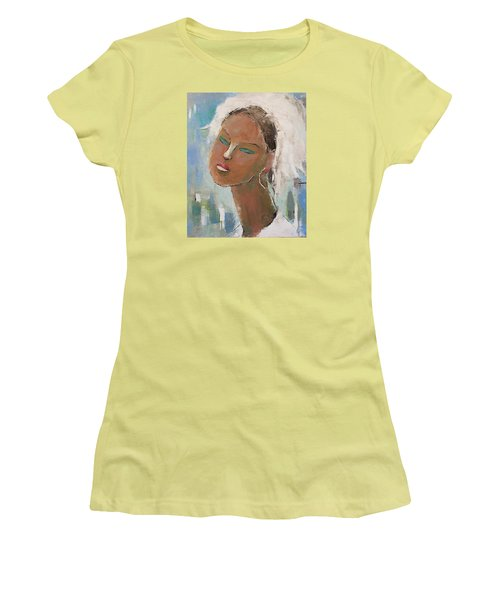 Women's T-Shirt (Junior Cut) featuring the painting Unknown by Becky Kim