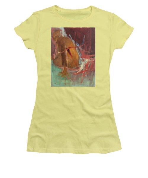 Women's T-Shirt (Junior Cut) featuring the painting Unquiet by Daun Soden-Greene