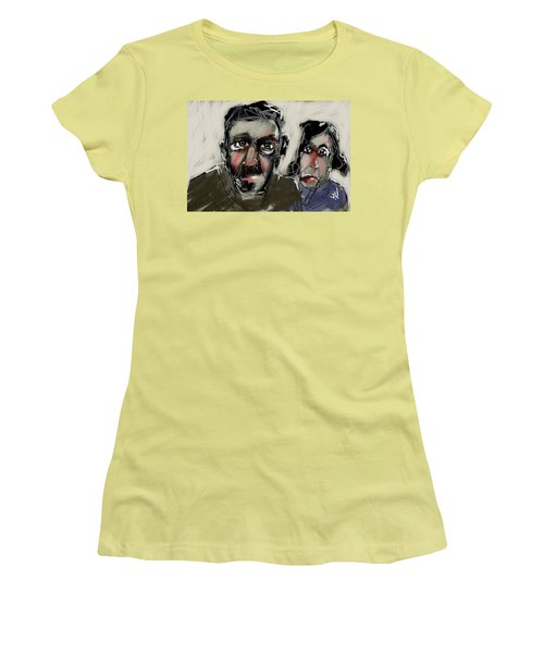 Women's T-Shirt (Junior Cut) featuring the painting Untitled 21nov2016 by Jim Vance
