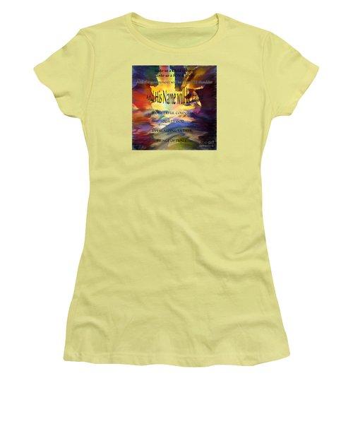 Unto Us Women's T-Shirt (Junior Cut) by Margie Chapman