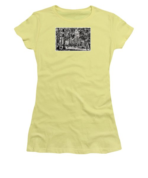 Women's T-Shirt (Junior Cut) featuring the digital art Up Among The Aspens by William Fields