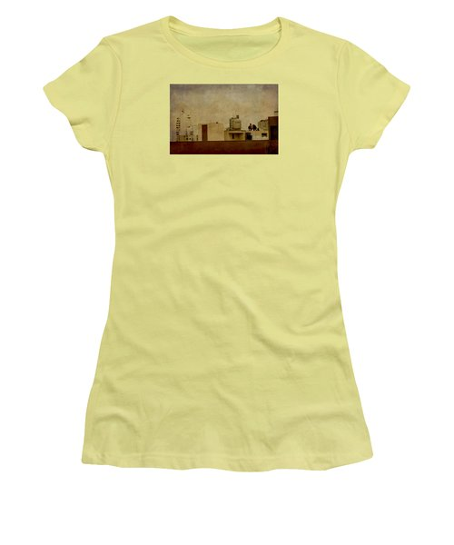 Up On The Roof Women's T-Shirt (Athletic Fit)