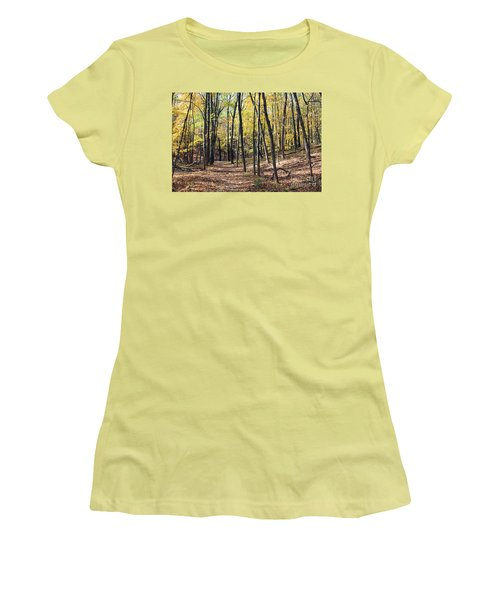 Up The Woodland Trail Women's T-Shirt (Athletic Fit)