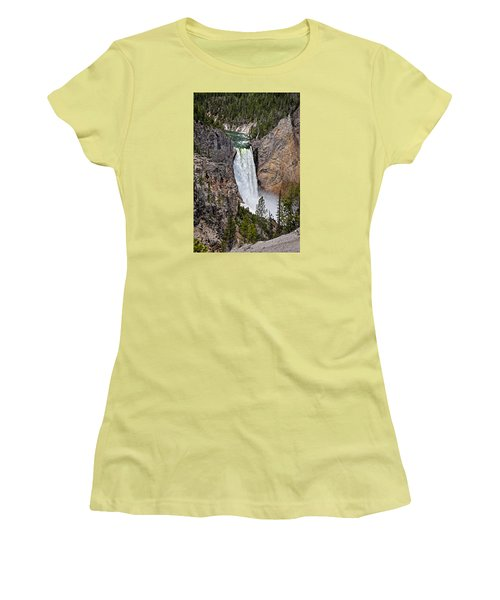 Upper Falls Women's T-Shirt (Junior Cut) by John Gilbert