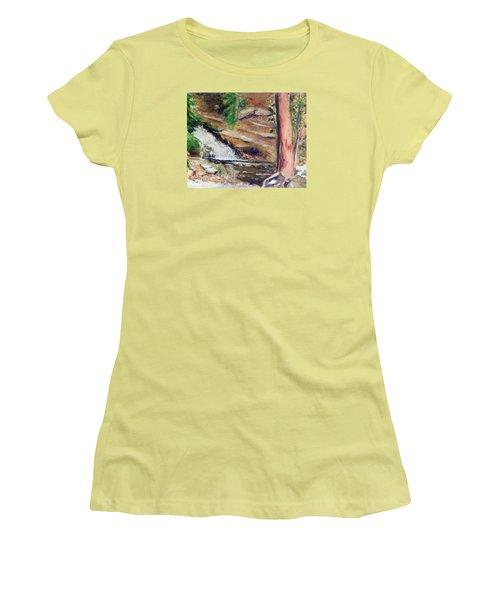Upper Provo River Falls Women's T-Shirt (Junior Cut) by Sherril Porter