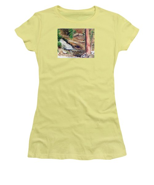 Upper Provo River Falls Women's T-Shirt (Athletic Fit)