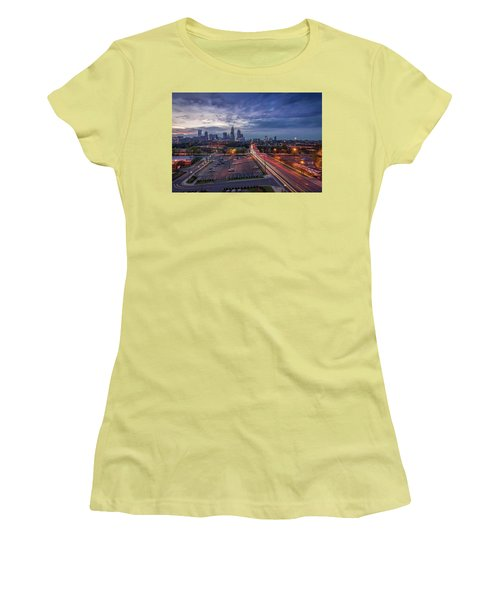 Uptown Charlotte Rush Hour Women's T-Shirt (Athletic Fit)
