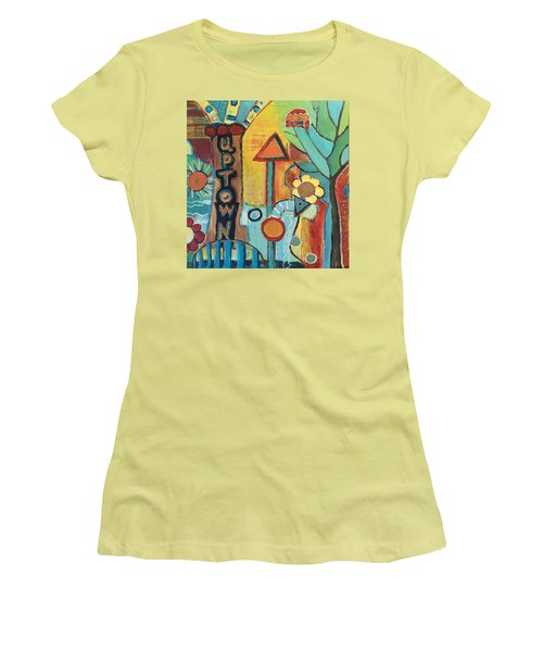 Uptown Dream World Women's T-Shirt (Junior Cut) by Susan Stone