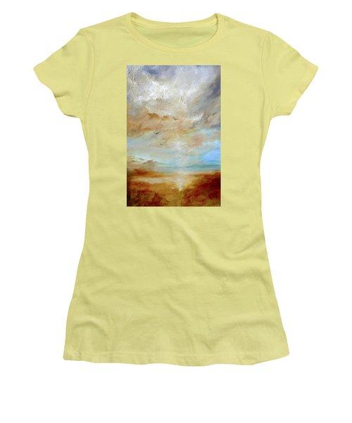 Upwardly Mobile Women's T-Shirt (Junior Cut) by Dina Dargo