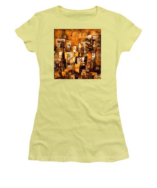 Urban Abstract #1 Women's T-Shirt (Junior Cut) by Kim Gauge
