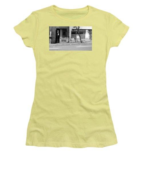 Women's T-Shirt (Junior Cut) featuring the photograph Urban Encounter by Valentino Visentini