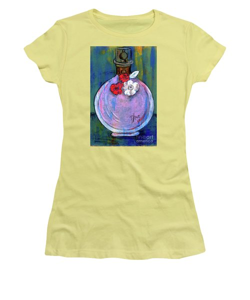 Women's T-Shirt (Junior Cut) featuring the painting Valentina by P J Lewis