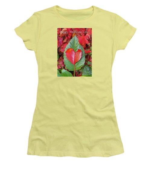 Valentine's Day Nature Card Women's T-Shirt (Junior Cut) by Debra Thompson