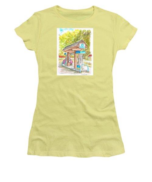 Valero Gas Station In Big Sur, California Women's T-Shirt (Junior Cut) by Carlos G Groppa