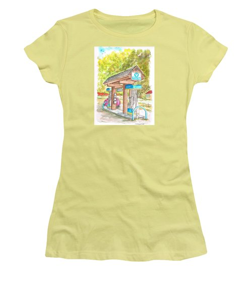Valero Gas Station In Big Sur, California Women's T-Shirt (Athletic Fit)