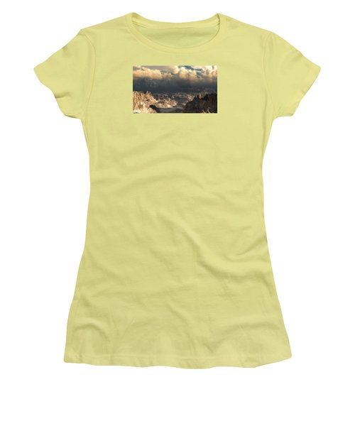 Valley At Dusk Women's T-Shirt (Athletic Fit)