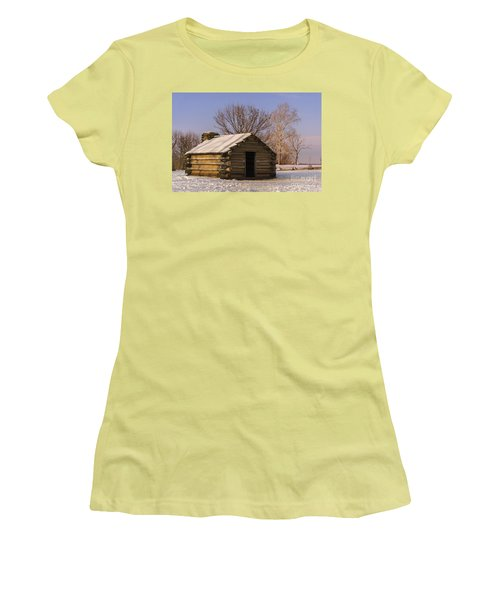 Valley Forge Cabin At Sunset Women's T-Shirt (Athletic Fit)