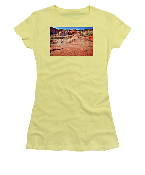 Valley Of Fire State Park Nevada Women's T-Shirt (Junior Cut) by James Hammond