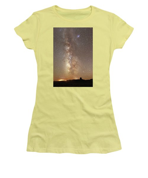Valley Of The Gods Milky Way Women's T-Shirt (Athletic Fit)