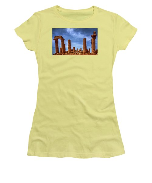 Valley Of The Temples IIi Women's T-Shirt (Junior Cut) by Patrick Boening