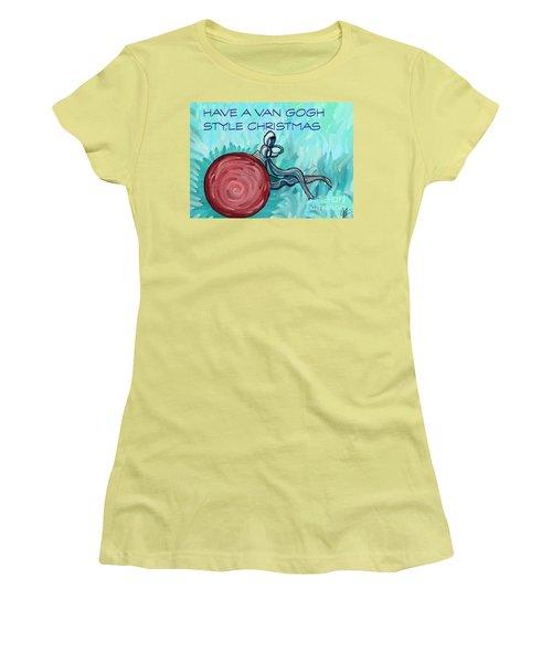 Van Gogh Style Xmas  Women's T-Shirt (Junior Cut) by Gallery Messina