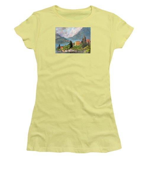 Varenna Italy Women's T-Shirt (Junior Cut) by Donna Tucker