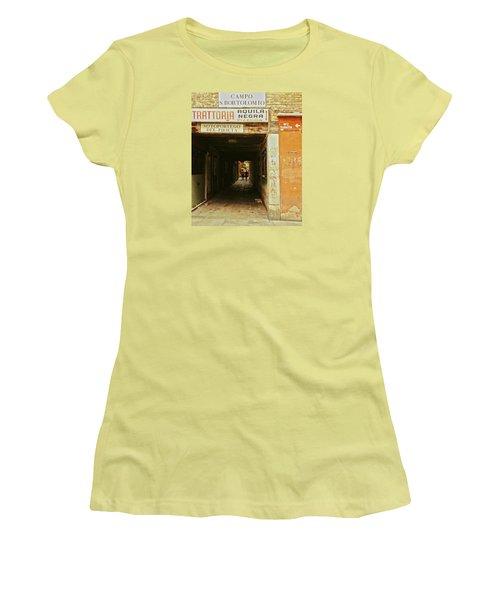 Women's T-Shirt (Athletic Fit) featuring the photograph Venetian Passage by Anne Kotan