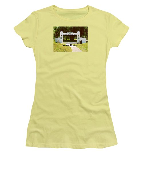 Venice Army Air Force Women's T-Shirt (Athletic Fit)