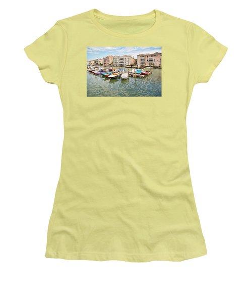 Venice Boats Women's T-Shirt (Junior Cut) by Sharon Jones