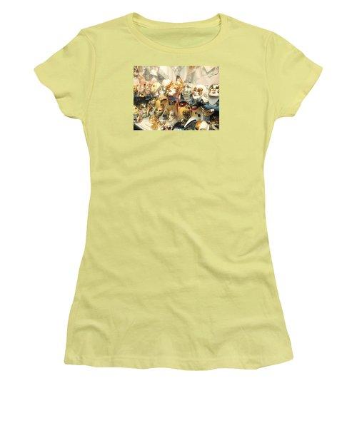 Venice Masks Women's T-Shirt (Athletic Fit)