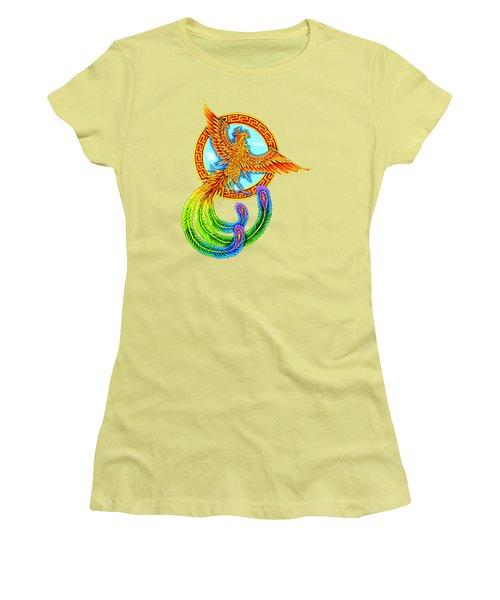 Vermilion Bird Women's T-Shirt (Junior Cut) by Rebecca Wang