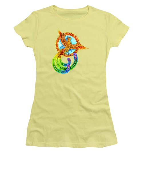 Vermilion Bird Women's T-Shirt (Athletic Fit)
