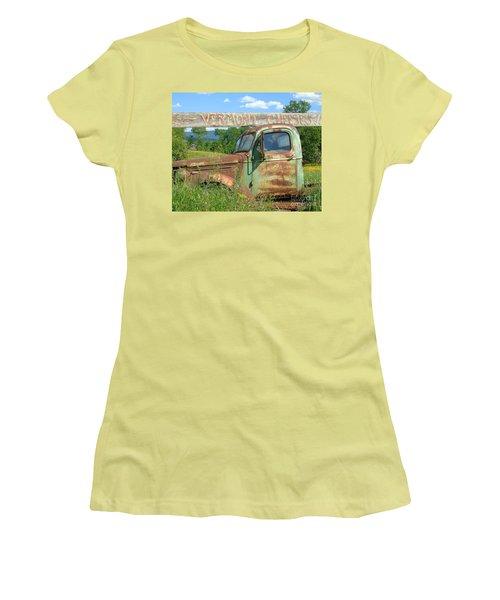 Vermont Cheese Women's T-Shirt (Junior Cut) by Susan Lafleur