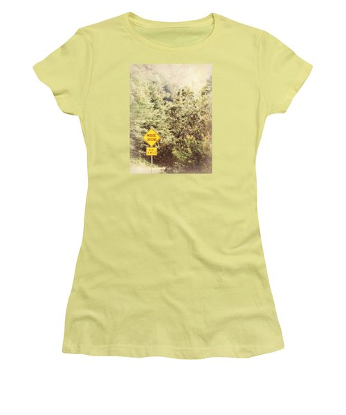 Women's T-Shirt (Junior Cut) featuring the photograph Vermont In Winter by Robin Regan