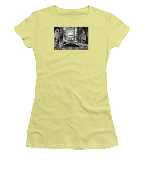 Women's T-Shirt (Junior Cut) featuring the photograph Vezelay Basilica France by Jack Torcello