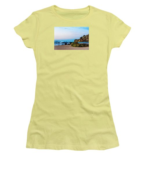Women's T-Shirt (Junior Cut) featuring the photograph Vibrant Seascape At Twilight by Marion McCristall