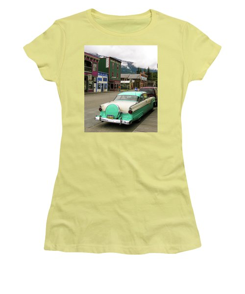 Women's T-Shirt (Junior Cut) featuring the photograph Vicky In Skagway by Jim Mathis