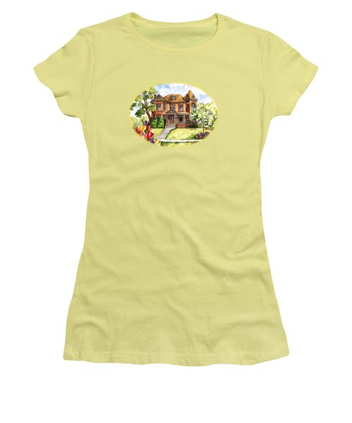 Victorian Mansion In The Spring Women's T-Shirt (Athletic Fit)