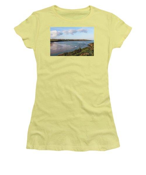 Women's T-Shirt (Junior Cut) featuring the photograph View Across The Gannel Estuary by Nicholas Burningham