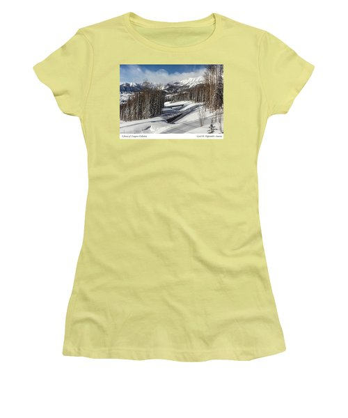 View From A Mountain Above Telluride In Colorado Women's T-Shirt (Athletic Fit)