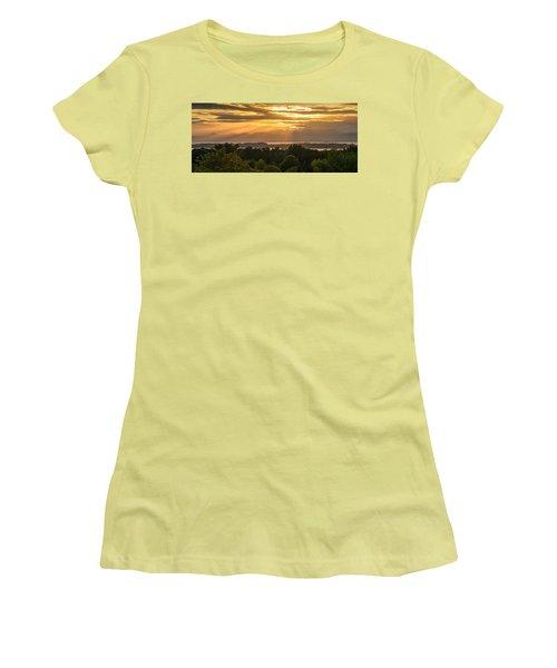 View From Overlook Park Women's T-Shirt (Junior Cut) by Craig Szymanski