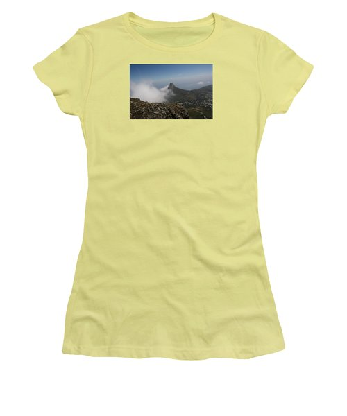 View From Table Mountain Women's T-Shirt (Junior Cut) by Bev Conover