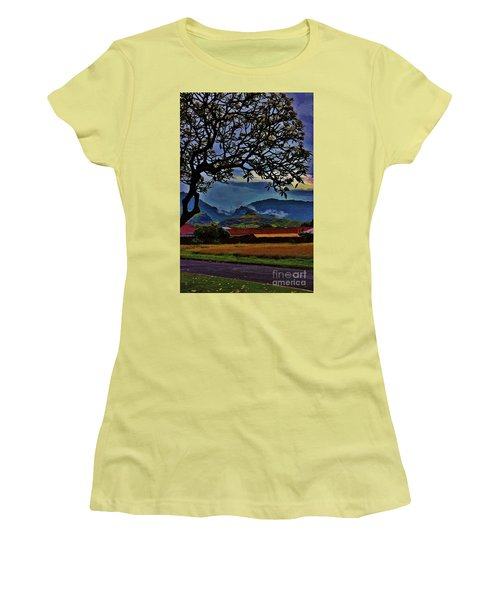 View From The School Yard Women's T-Shirt (Athletic Fit)