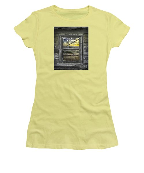 View From Weathered Beach Cottage Women's T-Shirt (Athletic Fit)