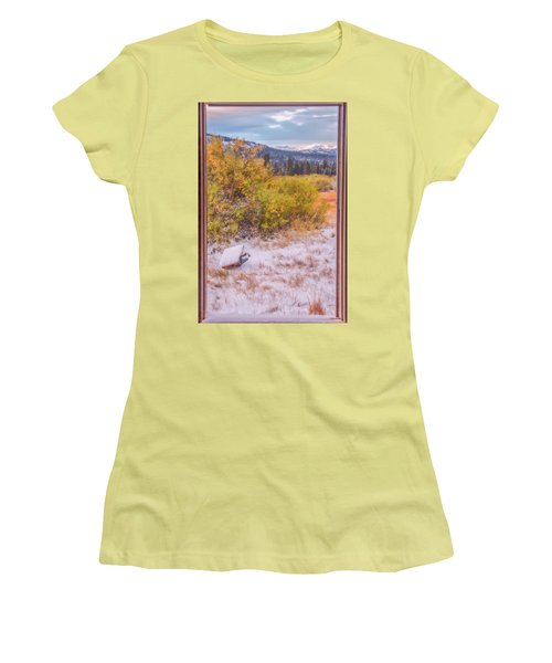 View Out Of A Broken Window Women's T-Shirt (Athletic Fit)