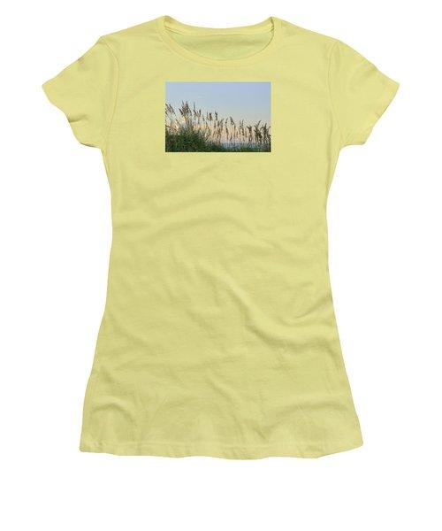 Women's T-Shirt (Junior Cut) featuring the photograph View Through The Sea Oats by Bradford Martin