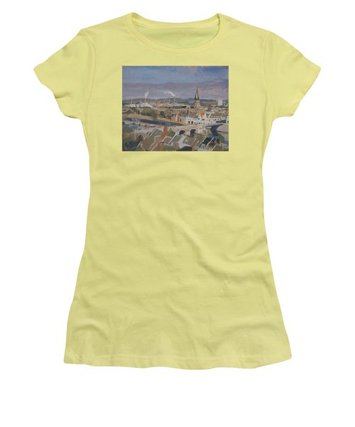 View To The East Bank Of Maastricht Women's T-Shirt (Junior Cut) by Nop Briex
