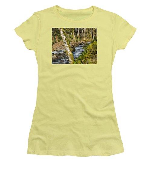 Views Of A Stream, I Women's T-Shirt (Junior Cut) by Chuck Flewelling